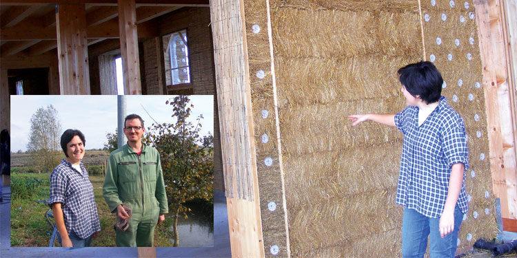 Una casa di legno, paglia e tanti sogni