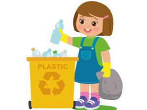 bambina-cesto-plastica