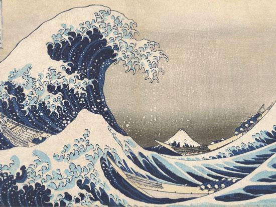 La Grande Onda di Katsushika Hokusai.